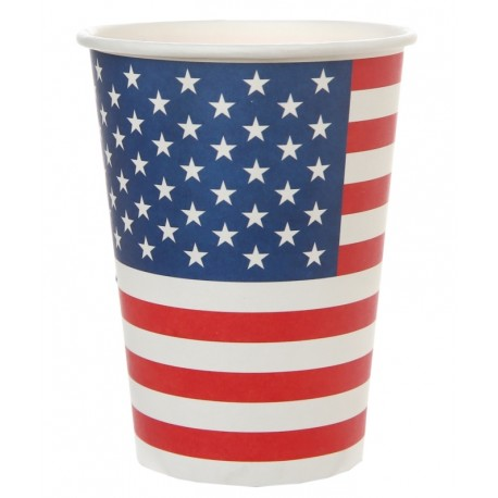 Gobelet drapeau américain carton les 10
