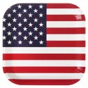 Assiettes Amérique drapeau américain carton 23 cm les 10