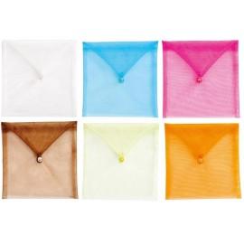 Sachet à dragées enveloppe organdi couleur les 6