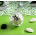 Boules plexi transparent ballon de foot 5 cm les 40