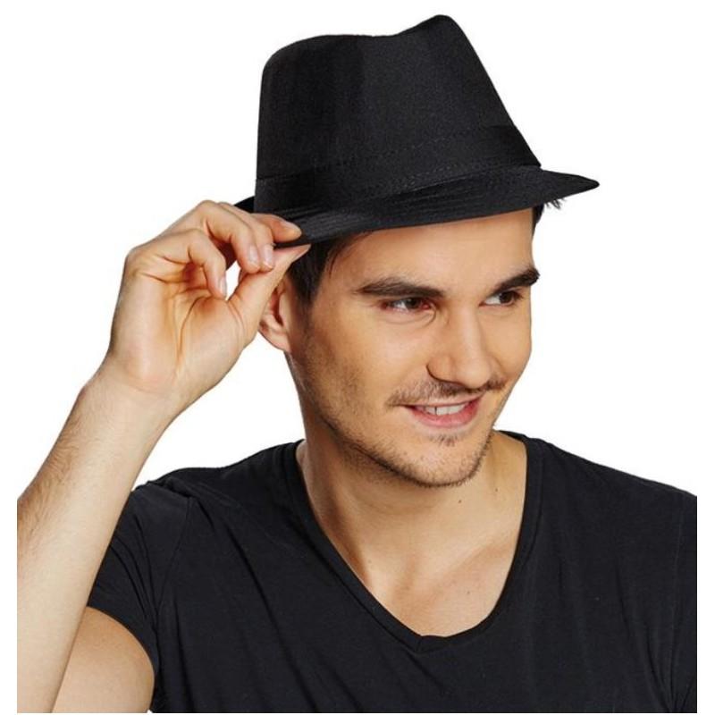 chapeau fedora noir homme. Black Bedroom Furniture Sets. Home Design Ideas