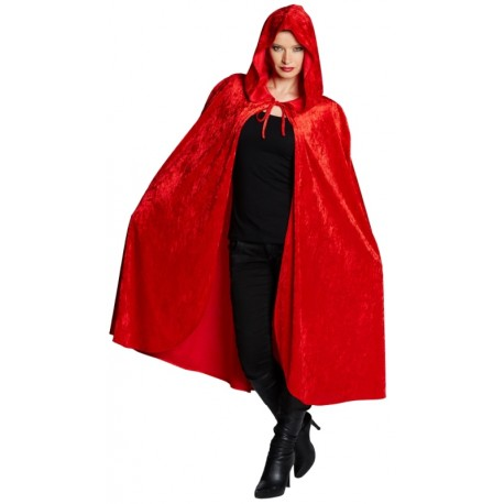 Déguisement Cape velours rouge adulte