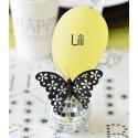 Mini ballons de baudruche jaune 8 cm les 25