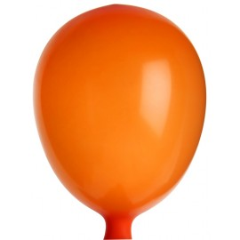 Mini ballons de baudruche orange 8 cm les 25