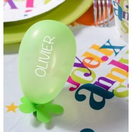 Mini ballons de baudruche vert 8 cm les 25