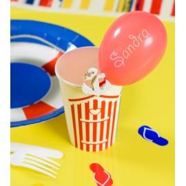 Mini ballons de baudruche rouge 8 cm les 25