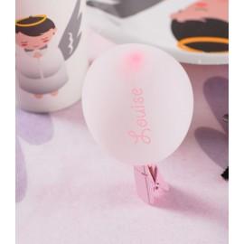 Mini ballons de baudruche rose 8 cm les 25