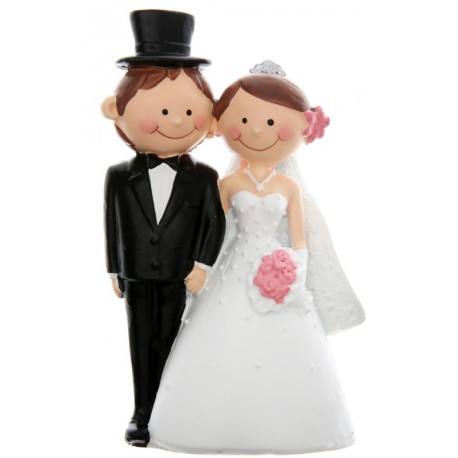 Figurine Mr & Mrs couple de mariés 10 cm