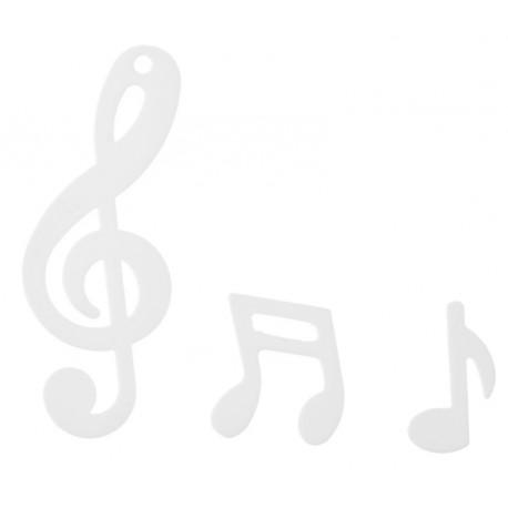 Confettis de table note de musique blanche 20 grs