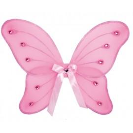 Ailes papillon rose enfant fille 39 x 46 cm