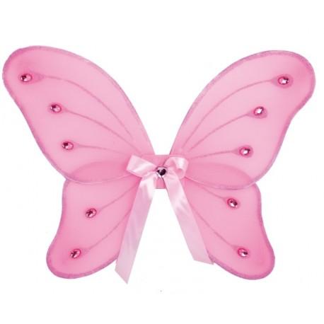 Ailes papillon rose enfant 39 x 46 cm