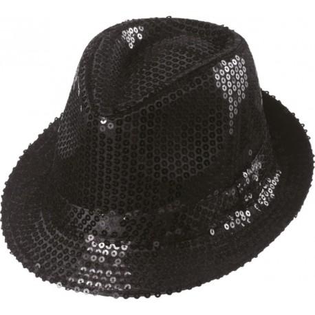 56c87de46522 Chapeau borsalino à sequins noir adulte   achat borsalino Chapeaux