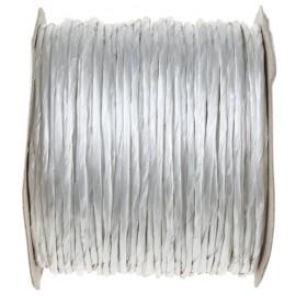 Cordon papier métallisé armé blanc (laitonné) 20 M