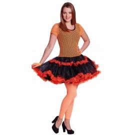 Déguisement années 80 femme néon orange