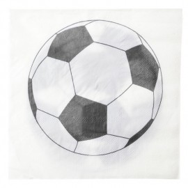 Serviettes de table Foot papier les 20
