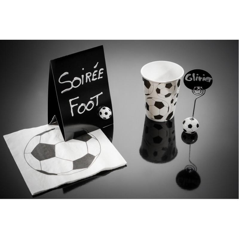 serviette de table foot papier les 20. Black Bedroom Furniture Sets. Home Design Ideas