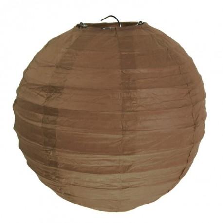 Lanterne boule chinoise papier chocolat 30 cm les 2