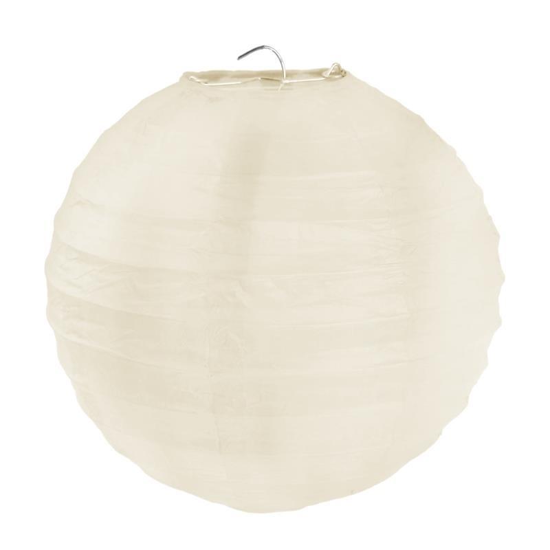 Lanterne boule chinoise papier ivoire 30 cm les 2 - Boule papier chinoise ...