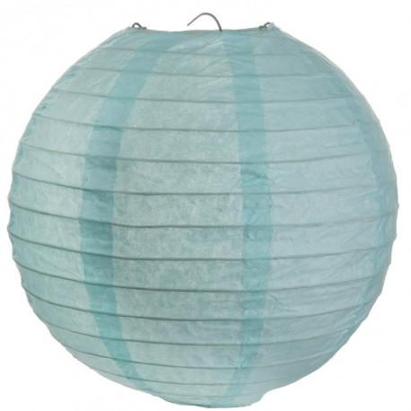 Lanterne boule chinoise papier bleu ciel 50 cm