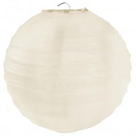 Lanterne boule chinoise papier ivoire 50 cm