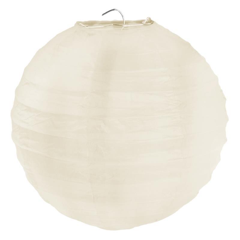 lanterne boule chinoise papier ivoire 50 cm. Black Bedroom Furniture Sets. Home Design Ideas