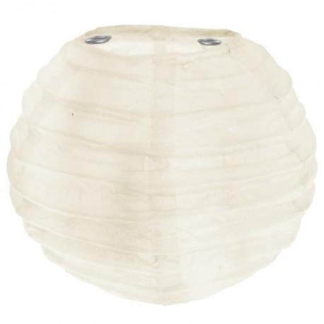 Lanterne boule chinoise papier ivoire 10 cm les 2