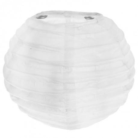 Lanterne boule chinoise papier blanc 10 cm les 2
