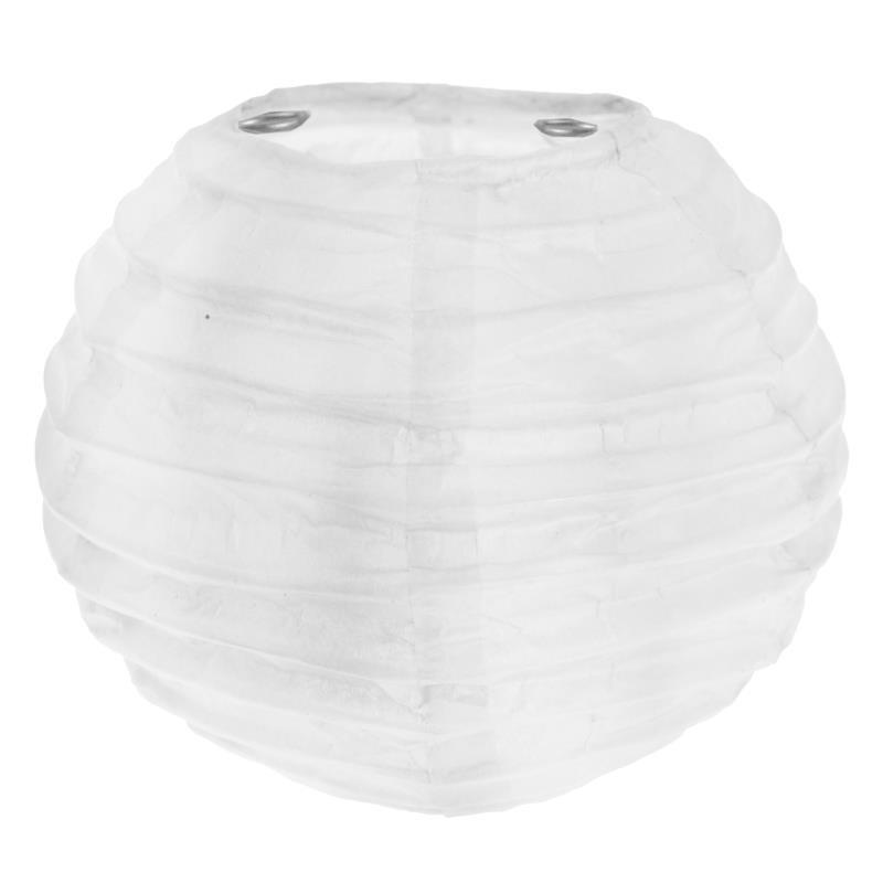 lanterne boule chinoise papier blanc 10 cm les 2. Black Bedroom Furniture Sets. Home Design Ideas