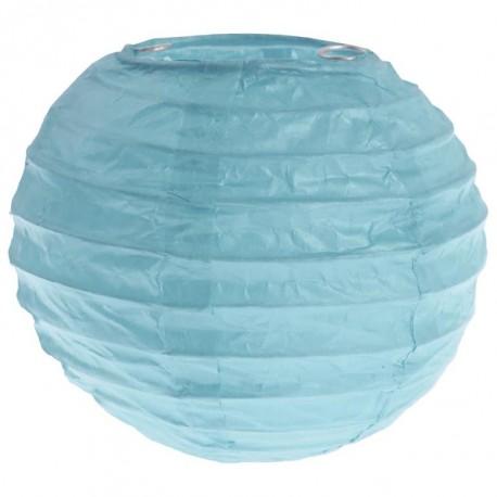 Lanterne boule chinoise papier bleu ciel 10 cm les 2