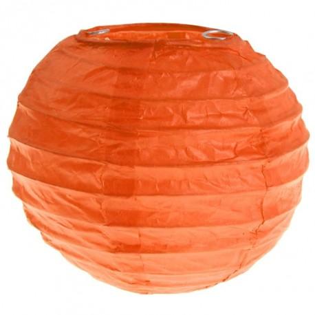Lanterne boule chinoise papier orange 10 cm les 2