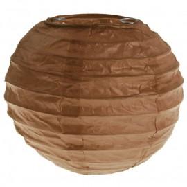 Lanternes boule chinoise papier chocolat 10 cm les 2