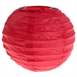 Lanternes boule chinoise papier rouge 10 cm les 2