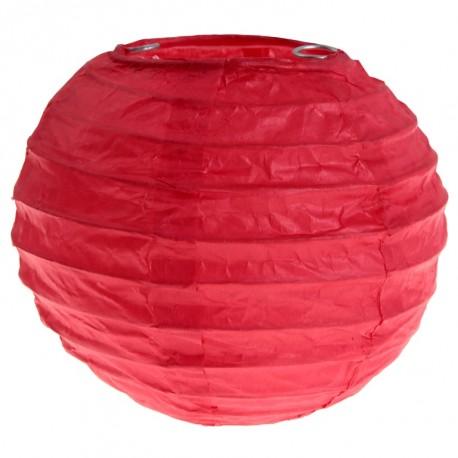 Lanterne boule chinoise papier rouge 10 cm les 2