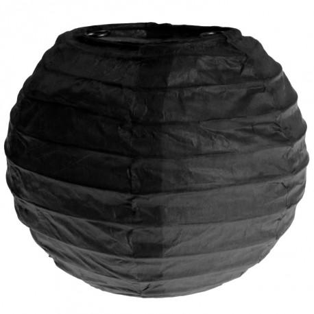 Lanterne boule chinoise papier noir 10 cm les 2