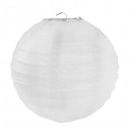 Lanterne boule chinoise papier blanc 20 cm les 2