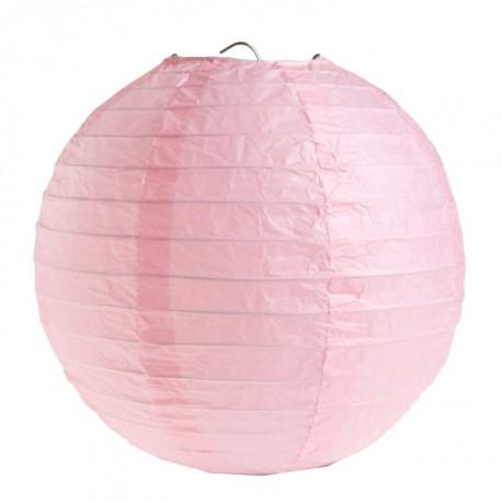 Lanterne boule chinoise papier rose 20 cm les 2