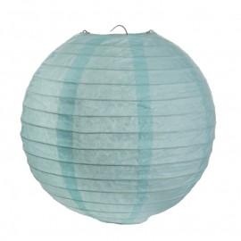 Lanternes boule chinoise papier bleu ciel 20 cm les 2