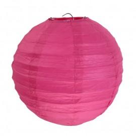 Lanternes boule chinoise papier fuchsia 20 cm les 2