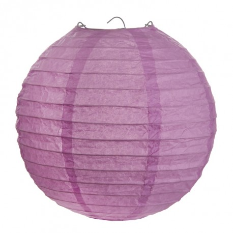 Lanterne boule chinoise papier parme 20 cm les 2