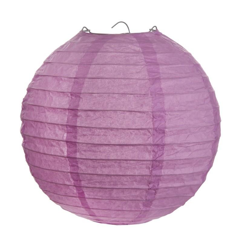 lanterne boule chinoise papier parme 20 cm les 2. Black Bedroom Furniture Sets. Home Design Ideas