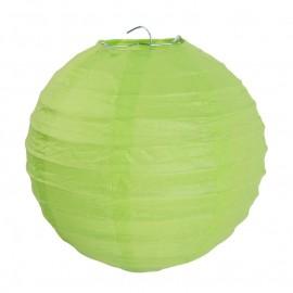 Lanternes boule chinoise papier vert anis 20 cm les 2