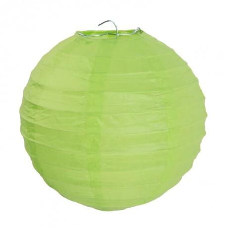 Lanterne boule chinoise papier vert anis 10 cm les 2