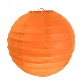 Lanternes boule chinoise papier orange 20 cm les 2