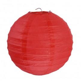 Lanternes boule chinoise papier rouge 20 cm les 2
