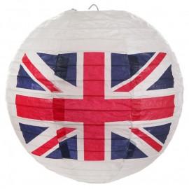 Lanternes boule papier drapeau anglais Union Jack 20 cm les 2