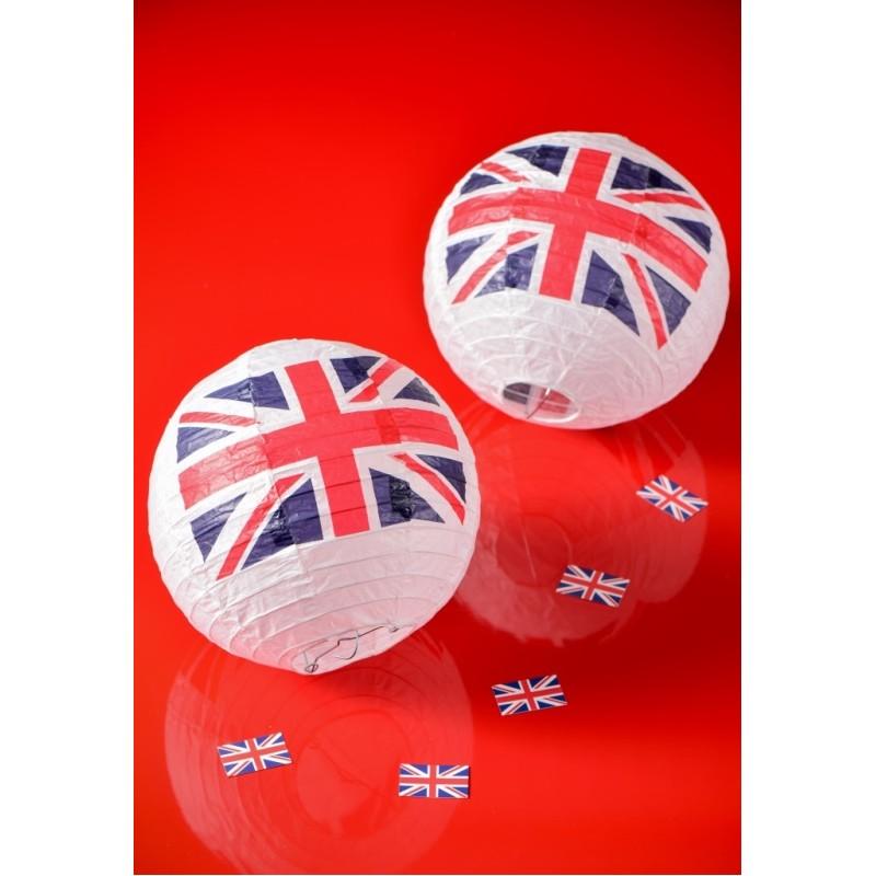 lanterne boule papier drapeau anglais union jack 20 cm les 2. Black Bedroom Furniture Sets. Home Design Ideas