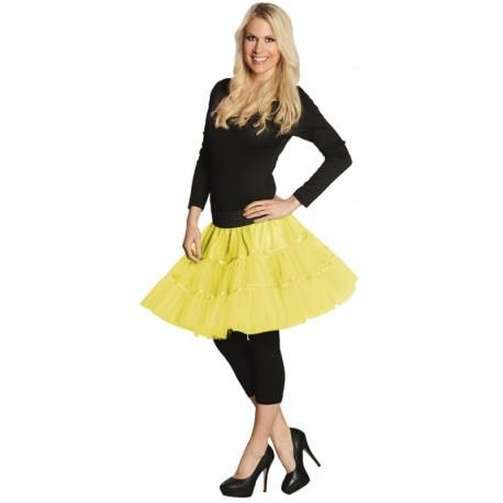Déguisement Jupon tulle néon jaune femme