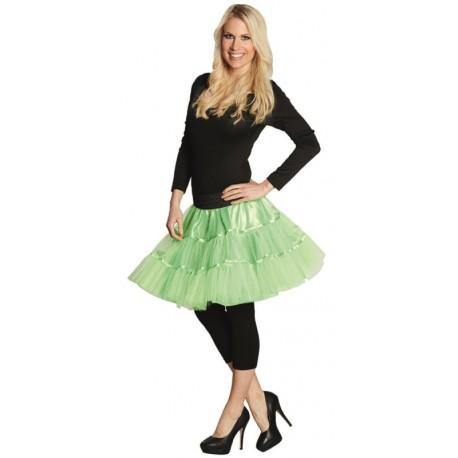 Déguisement Jupon tulle néon vert femme