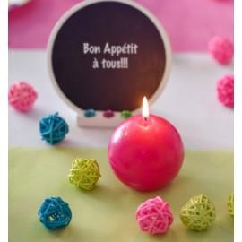 Boule rotin couleur 3 cm les 12 déco festive