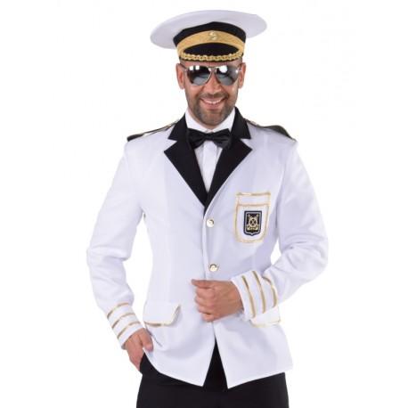 Déguisement veste capitaine de marine homme luxe